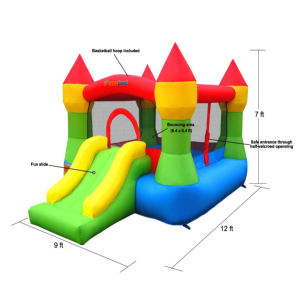 Bounceland Castle W Hoop Inflatable Bounce House dimensions