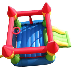 Bounceland Castle W Hoop Inflatable Bounce House top