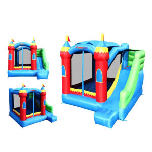 Bounceland Royal Palace Bounce House with Slide side