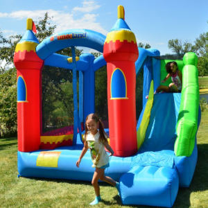 Bounceland Royal Palace Bounce House with Slide with kids