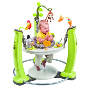 Evenflo ExerSaucer Jump and Learn Baby Jumper with baby