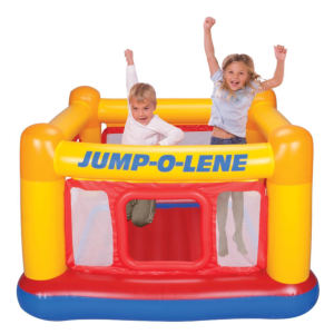 Intex Playhouse Jump-O-Lene Inflatable Bouncer with kids inside